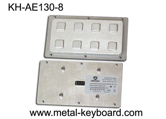 Customization 8 Keys Number vandal proof keypad Rear Panel Mount