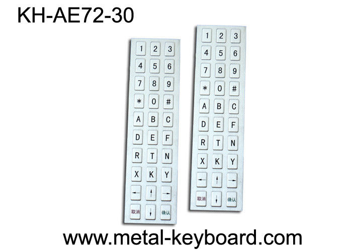 30 Keys Kiosk water resistant Industrial Metal Keyboard USB Port , Customization Layout