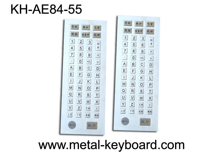 55 Keys Industrial Kiosk Metal Keyboard with Customized Layout Design
