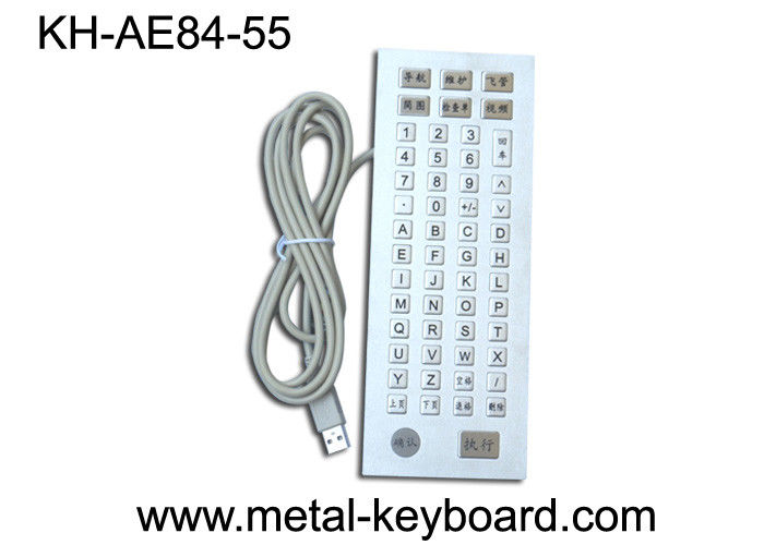 Stainless steel 55 Keys customisable keyboard Metal PS / 2 , USB
