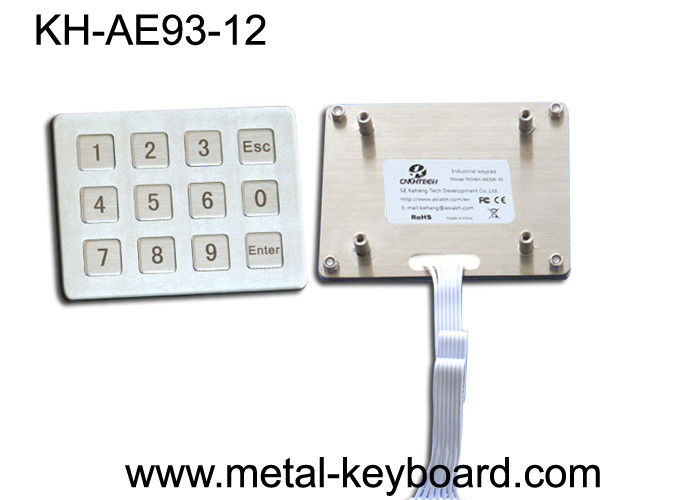 Customizable Rugged IP65 Water proof Metal Keypad with 16 Keys In 4x4 Layout
