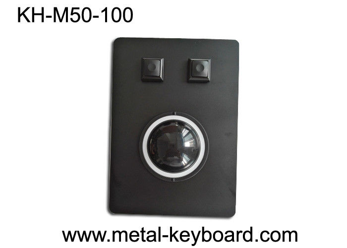 Marine Control Tracking mouse with Black Metal Panel and 50MM Resin Trackball industrial