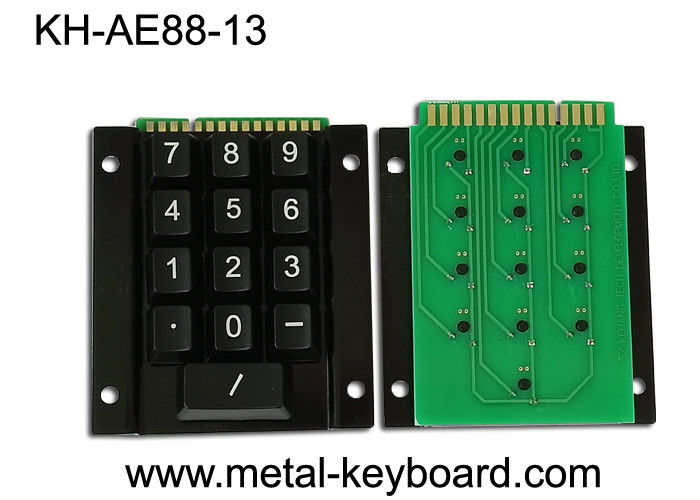 Industrial Metal Kiosk Keyboard with 15 Keys and Metal Rear Panel Mounting