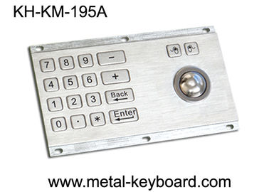 Metallische anti- Vandale Kiosk-Digital-Tastatur mit integrierter Rate der Rollkugel-IP65